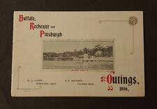 *Early 1896 Buffalo Rochester Pittsburgh Railway Outings Advertising Brochure*