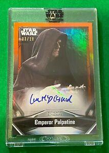 2021 IAN MCDIARMID Emperor Palpatine Star Wars Signature Series AUTO Card 03/10