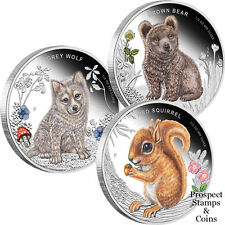 2013 Forest Babies 1/2oz Silver Proof Coins - 3 Coin Set