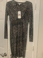 Kenneth Cole New York Womens Animal Print Midi Dress Size S