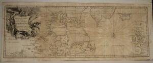NORTHWEST PASSAGE CANADA GREENLAND NORTHERN EUROPE 1749 HENRY ELLIS ANTIQUE MAP