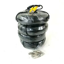 4pcs 150ft HD Video Power Cable BNC to RCA for Security Camera System