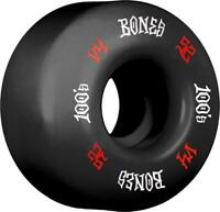 Bones Skateboard Wheels 52mm Black Wheels, 100's #12 V4