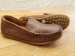 M&S Autograph UK 11 EU 29 Boys Leather Loafers Moccasins Kids Casual Boat Shoes