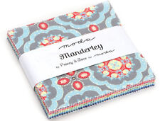 "Charm Pack 42 x 5"" Fabric Squares From Moda in Manderley Collection 100% Cotton"