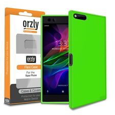 Razer Phone Case Green FlexiCase Cover Protective Shell by Orzly