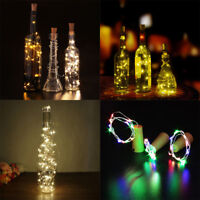 LED Cork with 20 Lights on a String Bottle Stopper Lamp Light  Wedding Events 2M