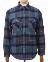 Brixton L/S Bowery Flannel Shirt - Navy/Carolina Blue