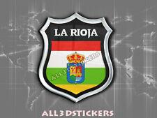 Pegatina Emblema 3D Relieve Bandera Provincia La Rioja - Todas las Banderas
