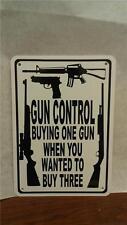 """Man Cave Sign Gun Control Gun Bullet Protection AR 15 7""""X10"""""""
