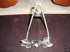 Pewter Wall Hanger Floral Design