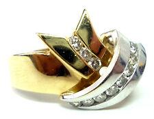 .35ct TW Round Brilliant Cut Diamond 2-Tone 14K Gold Crossover Ring - Size 10.25