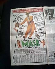 Best THE MASK Film Movie Opening Day ADVERTISEMENT 1994 Los Angeles CA Newspaper