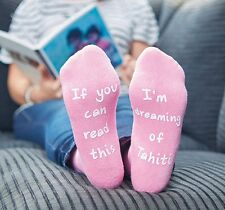 Personalised Novelty Socks - Perfect gift. Can be personalised with any text !!