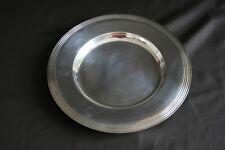 Beau plat ancien en métal argenté Ercuis