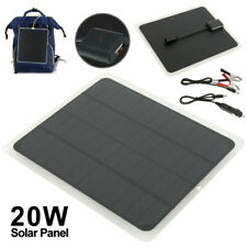 Solar Panel 20W 12V Trickle Charge Battery Charger Kit Maintainer Marine Boat MY