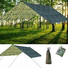 Waterproof Tent Tarp Rain Sun Shade Hammock Shelter Camping Picnic Pad Mat BS