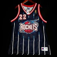 1956828bee50 100% Authentic Clyde Drexler NBA   50th Champion Rockets Jersey 48 XL L NWT
