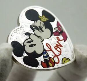 Disney Gifts Mickey and Minnie Mouse Commemorative Coin- Love Heart Shaped Coin