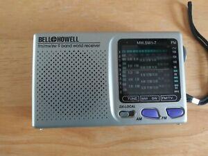 BELL & HOWELL SHORTWAVE RADIO AM/FM MW SW 9 BAND WORLD RECEIVER MW.SW1-7 WORKS