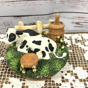 Our America Yankee Candle Topper Jar Lid Cover Resin Topper Cow Calf
