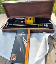 Hoppes No. 9 Deluxe Rifle/Shotgun Gun Cleaning Kit In Wood Case Gunslick Patches