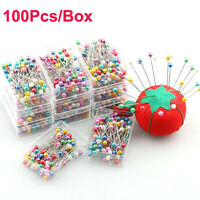 100Pcs Craft Pearl Head Needles Pin Patchwork Dressmaking Needle Pins DIY