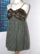 SMALL SIZE (10) BOW TOP SATIN & LACE MICRO MINI BY M BUTTERFLY CHRISTMAS PARTIES