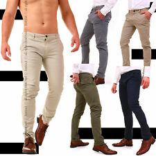 Pantaloni Uomo Slim Fit Chino Eleganti Classico da Ufficio Casual Cotone America