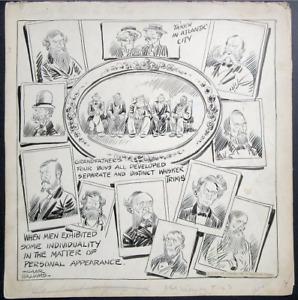 1928 original art GAAR WILLIAMS COMIC STRIP PANEL ~ AMONG THE FOLKS IN HISTORY