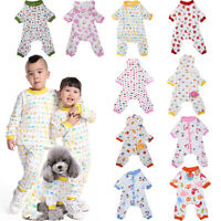 Fitwarm Cute Dog Pajamas Pet Clothes for Small Dog Shirt Jumpsuit Jammies XS-XL