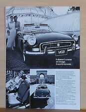 1972 magazine ad for MGB - 1972 MGB convertible with redesigned interior