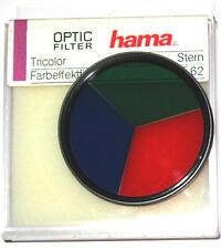"""62 mm di nuovi splendido effetto filtro: """"TRICOLORE"""" Rosso Verde Blu) di Hama 62mm"""