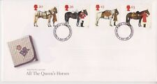 UNADDRESSED GB ROYAL MAIL FDC 1997 THE QUEEN'S HORSES STAMP SET MEDWAY PMK