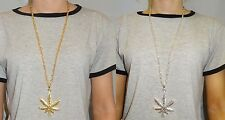 Necklace in Gold or Silver with Cannabis Leaf, Cross, Peace, US Dollar, New York