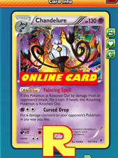 Chandelure Playset (Fainting spell) for Pokemon TCG Online (ptcgo in Game Card)