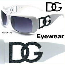 Women Square DG Eyewear Sunglasses Big DG LOGO White Frame DG119