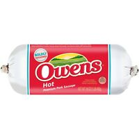 Owens Hot Pork Sausage 16 Oz (4 Pack)