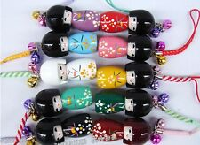 Wholesale 10 pcs Japanese Oriental Kokeshi Doll Handbag Charm
