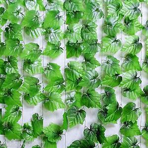 7.3 ft Wedding Decorations Artificial Ivy Leaf Garland Plants Vine Fake Foliage