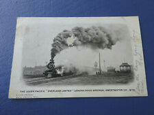 1907 Photo Postcard, Union Pacific Overland Limited Leaving Rock Springs