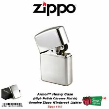 Zippo Armor Heavy Case Lighter, High Polish Chrome, Genuine Windproof #167