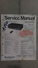 Technics sa-gx30 service manual original repair book stereo receiver tuner radio