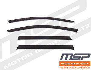 Out Channel Visors Wind Deflector Smoke Tinted For Porsche Cayenne 11-17 4pcs