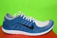 Men's Nike Free 3.0 V4 sz 10  White/Blk/military blue  running trainer