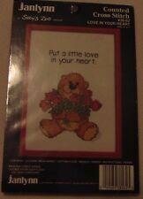 JANLYNN SUZY'S ZOO- COUNTED CROSS STITCH - LOVE IN YOUR HEART NIP