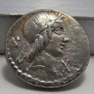 L. Calpurnius Piso Frugi - 90 BC - Silver Denarius - Apollo & Galloping Horseman