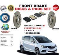 FOR VAUXHALL ZAFIRA P12 III 2011- 300MM FRONT BRAKE DISCS SET + BRAKE PADS KIT