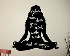 Woman Yoga Wall Decal Inspirational Quote Meditation Vinyl Sticker Art Decor 3yo