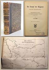Huhn Der Kampf der Bulgaren um ihre Nationaleinheit 1886 Geschichte mit Karte xz
